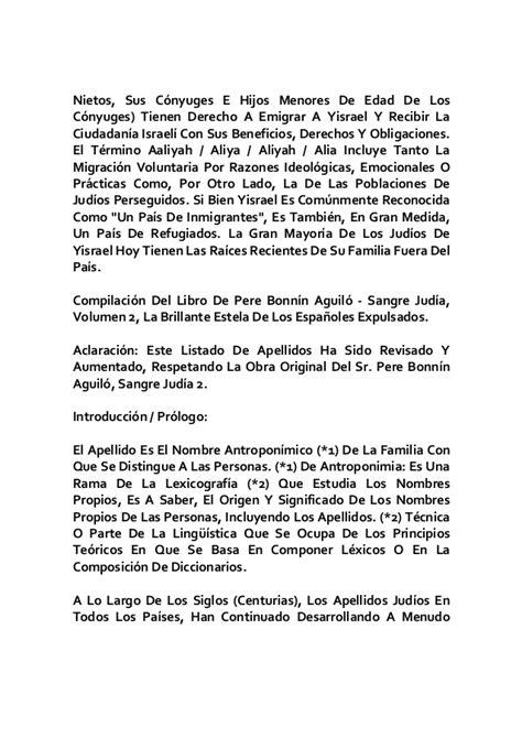 etimologia origen y significado de los apellidos judios ...