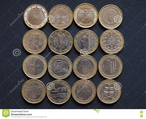 Euro Coins Of Many Countries Stock Photo   Image: 71692835