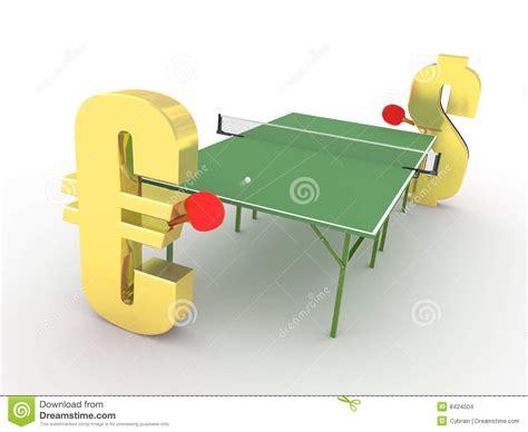 Euro Vs Dollar Competition Concept Stock Illustration ...