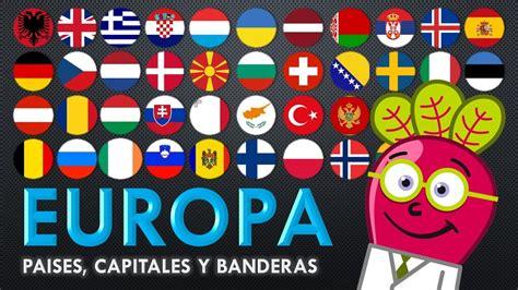 EUROPA Paises Capitales Banderas Mapas para niños y padres ...