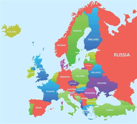 Europe Map - Guide of the World