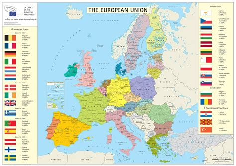 European union member states detailed map. Detailed map of ...