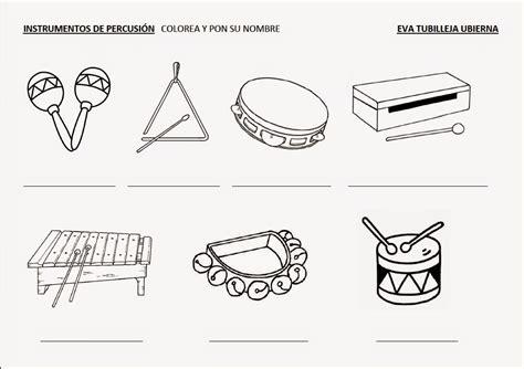 Eva: tacones y corcheas!: Ficha de instrumentos de percusión
