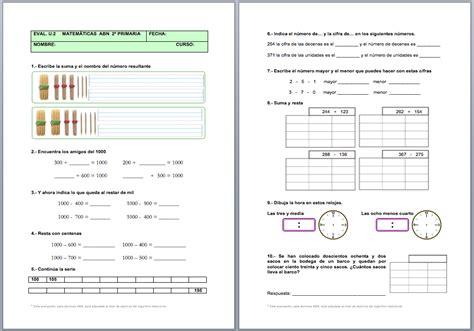 Evaluación Unidad 2 Matemáticas ABN (1º y 2º de Primaria ...
