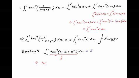 Evaluate the integral of arctan [ 1 / {1   x + square x ...