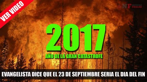 Evangelista explica que el 23 de Septiembre de 2017 habrá ...