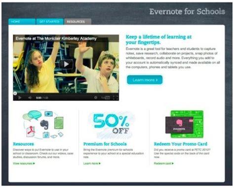 Evernote en español, Sitio web Evernote for Schools ...