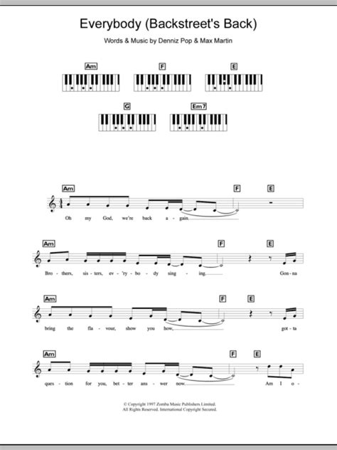 Everybody  Backstreet s Back  | Sheet Music Direct