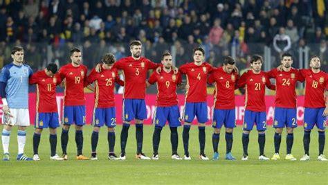 Examen a los jugadores de la selección española