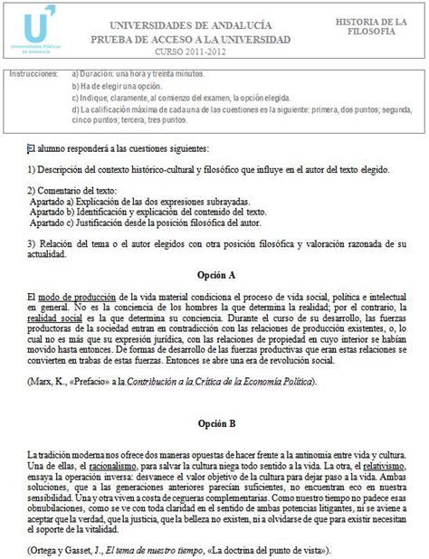 Examen de Selectividad: Historia de la Filosofía 5 ...