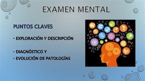 Examen mental psiquiatria  concepto, funciones, habitus exter
