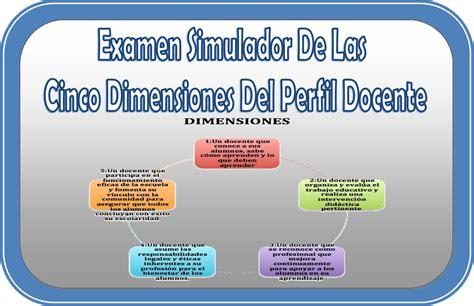 Examen simulador de las cinco dimensiones del perfil ...