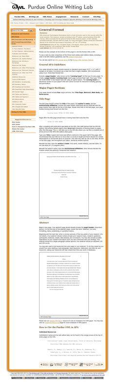 example of apa citation in paper   Screen capture of APA ...