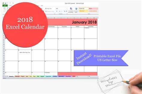 Excel 2018 calendario stampabile Stampabile 2018 Excel