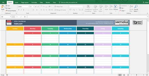 Excel Calendar Templates - Download FREE Printable Excel ...
