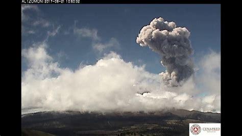 Explosión en el Volcán Popocatépetl el día 21 de agosto de ...