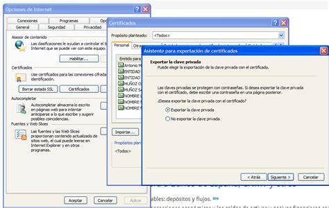 Exportar certificado digital de la empresa | Criterium