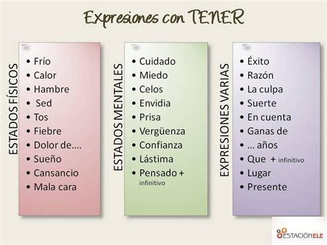 EXPRESIONES DE TENER - Sra. B Español
