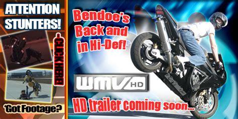 Extreme Motorcycle Stunts, Crashes, and Videos.   Bendoe.com
