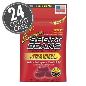 Extreme Sport Beans® Jelly Beans with CAFFEINE - Cherry 24 ...