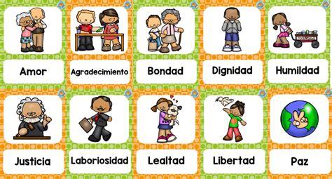 Fabulosos diseños sobre los valores | Educación Primaria