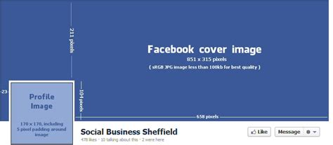 Facebook cover dimensions   Social Business Sheffield