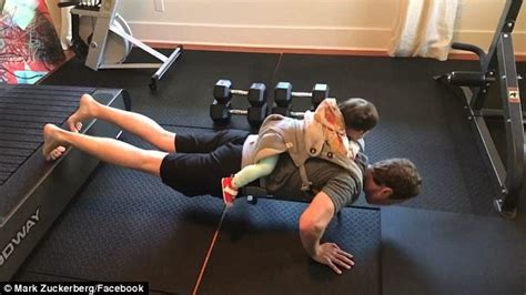 Facebook's Mark Zuckerberg works out with his daughter ...