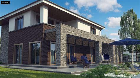 fachadas modernas con ladrillo visto