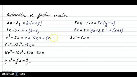 Factor común de polinomios   YouTube