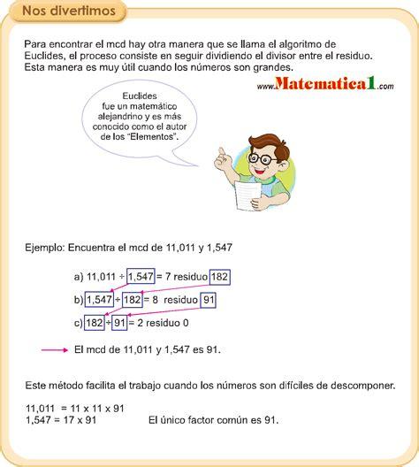 FACTORES PRIMOS EJEMPLOS RESUELTOS DE QUINTO DE PRIMARIA PDF