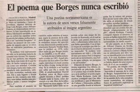 FACTÓTUM: El poema APOCRIFO de Borges: INSTANTES