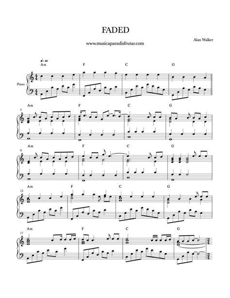 faded alan walker partitura para piano - Search | Libros ...