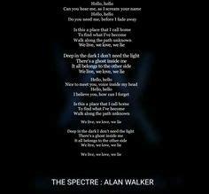 Faded-Alan Walker♥️ | TEXT OF SONG | Pinterest | Canciones ...
