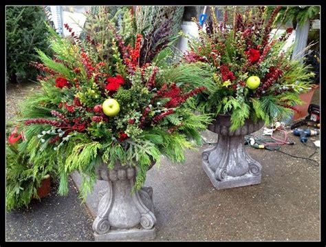 fall/winter outdoor planters   Flower arrangements ...