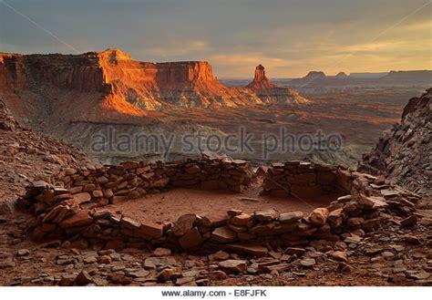 False Kiva Sunset Canyonlands National Stock Photos ...