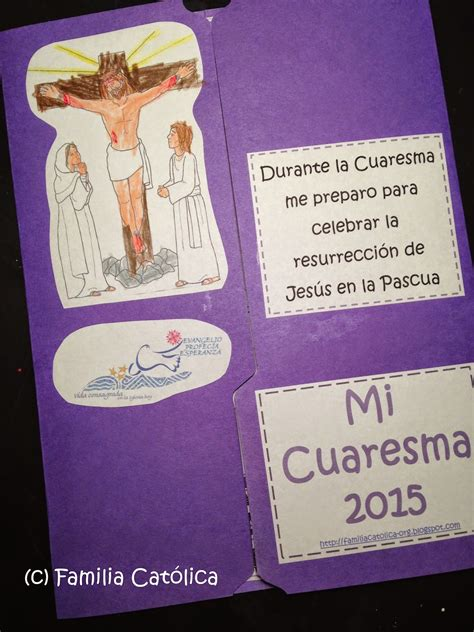Familia Católica: Lapbook 2015 para Cuaresma para niños de ...