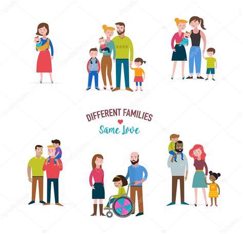 Família gay, diferentes tipos de famílias, crianças de ...