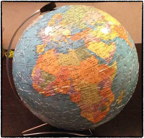 FANLEGO: Puzzle de la bola del mundo en 3d