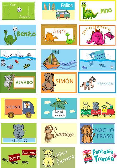 Fantasía en Tranvia: Tarjetas personales para niños