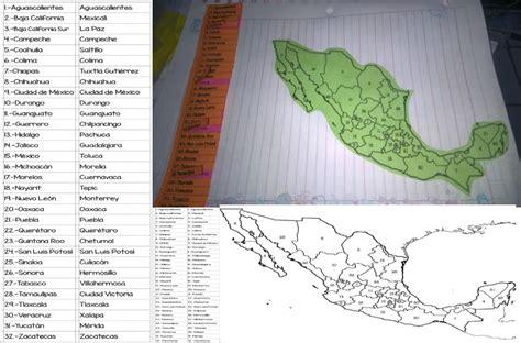 Fantástico interactivo de estados y capitales de México ...