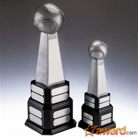 Fantasy Baseball Dynasty Trophy with 16 Name Plates