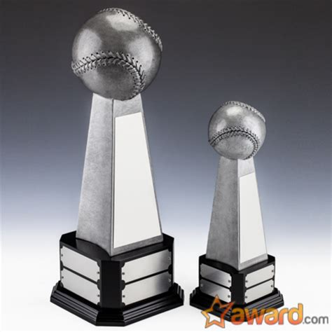 Fantasy Baseball Dynasty Trophy with 8 Name Plates