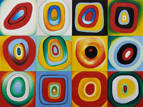 Farbstudie Quadrate  Color Study of Squares   by Wassily ...