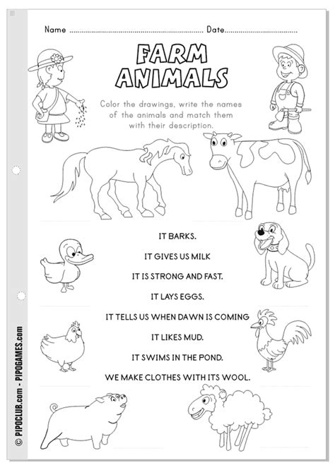 Farm animals, but Spanish words … | Pinteres…