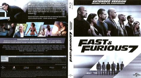 Fast & Furious 7 Blu-Ray DVD Cover (2015) German