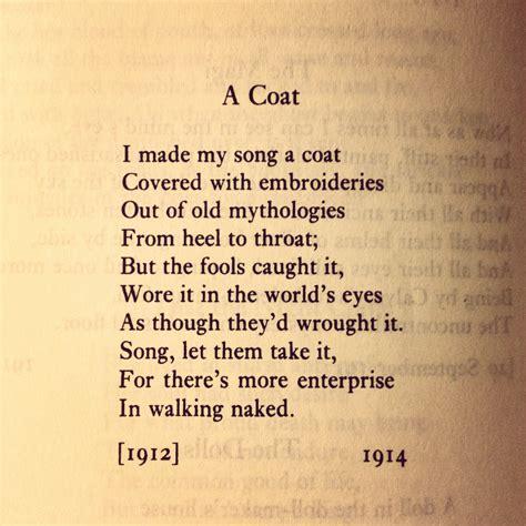 Favourite Poem: >> A COAT - William Butler Yeats ...