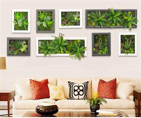 Fazer quadros vivo de plantas para decorar