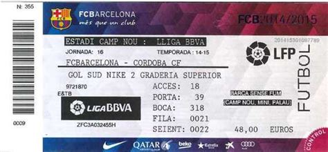 FC barcelona Camp Nou access to your ticket seats information