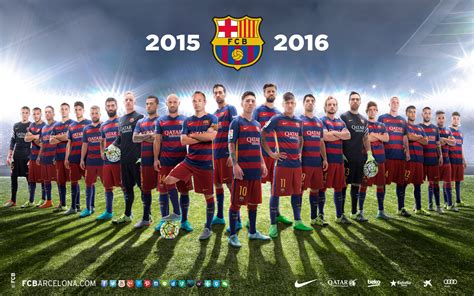 FC Barcelona Squad 2015-16 Football Team wallpapers