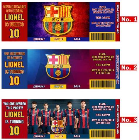 FC Barcelona Team, Messi or Neymar birthday Invitation ...